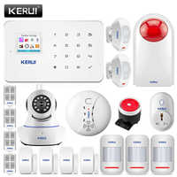 KERUI G18 GSM alarma De Seguridad De los sistemas De alarma De ladrón Para hogar Android IOS aplicación remota De Control De Alarmas De Seguridad Para Casa