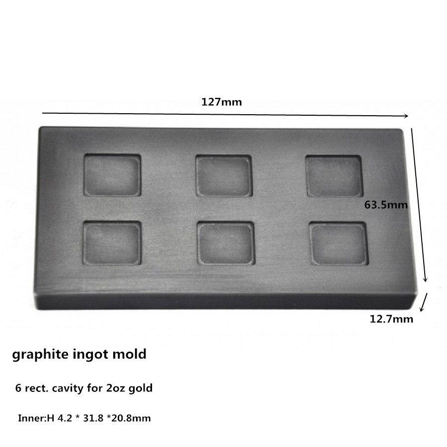 лучшая цена graphite ingot mold for 2oz gold bar refining /Graphite Crucible Cup / Copper casting ,FREE SHIPPING