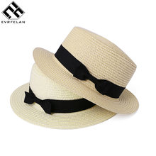 2243bdbe8aebdf Evrfelan Wholesale Women Sun Hat Girls Summer straw Hats For Women Beach  Flat Hat Female Chapeau