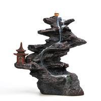 Yaratıcı büyük su tütsü Kule geri gitmek geri düşer kokulu sandal ağacı kokusu kokulu çay süs ile kokulu