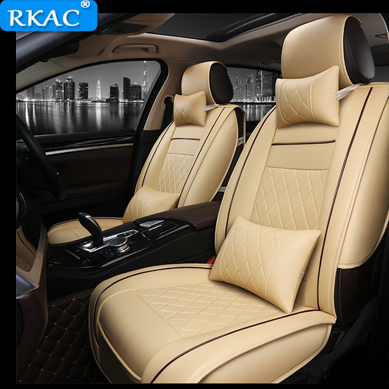 RKAC Auto automobiles Leather font b car b font seat cover For BMW e30 e34 e36