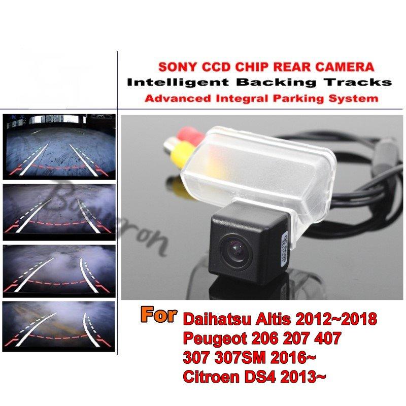 Pour Daihatsu Altis Peugeot 206 207 407 307 307SM citroën DS4 HD pistes intelligentes Intelligent dynamique Parking voiture vue arrière caméra