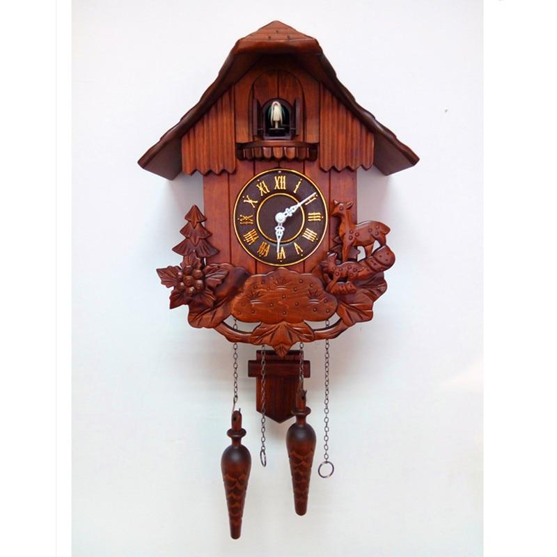 Online get cheap wood cuckoo clock alibaba group - Wooden cuckoo clocks ...