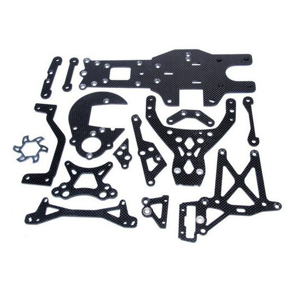 Carbon fiber connector kit fit 1/5 HPI rovan baja 5B ss king motor truck parts king motor carbon fiber plate engine brace kit fits hpi baja 5b ss 5t 5sc rovan