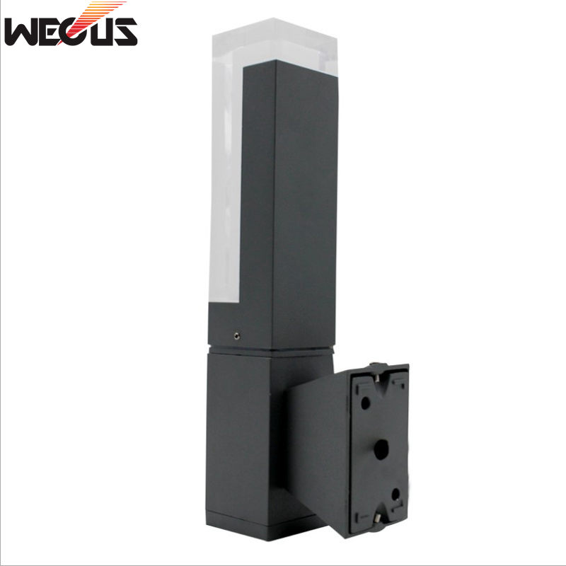 WECUS Modern Die cast Aluminum LED Outdoor Wall Light Waterproof IP54 Wall Lamp AC 85 265V porch outdoor lighting in Outdoor Wall Lamps from Lights Lighting