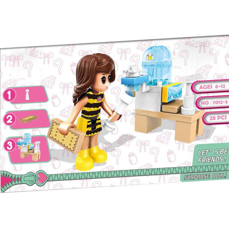 Legoing bloki przyjaciele księżniczka dziewczyny piosenkarka kelner Repoter klocki dla dzieci montaż przyjaciela blok dzieci prezent