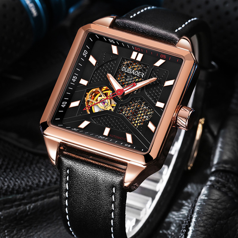 OUBAOER Top Brand Luxury Men's Watches Men Casual Military Business Hours Male Clocks Sport Mechanical Wrist Watch Men forsining top brand luxury men s wrist watch men military sport clock hand wind mechanical watches male business skeleton clocks