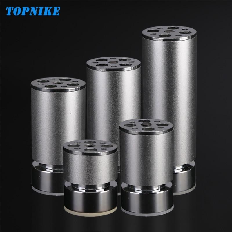 TOPNIKE 4 Pcs/Lot Customizable Height Cabinet Legs Aluminium Alloy Sand Silver Adjustable Table Leg TV Cabinet Leg