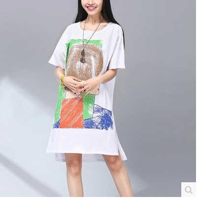 Gamiss 素敵な夏のスタイルの女性新ファッション水彩プリントのドレスセクシーなカジュアルパーティービーチドレスプラスサイズ