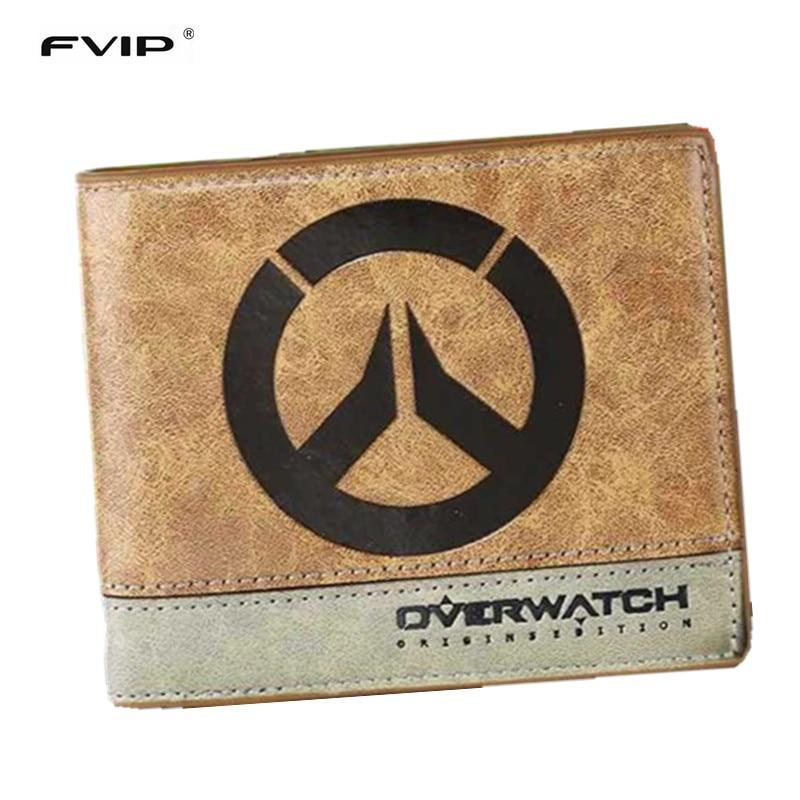 Fvip japonês anime puxão/death note/attack on titan/one piece/overwatch carteira com bolso de moedas zipper poucht billetera