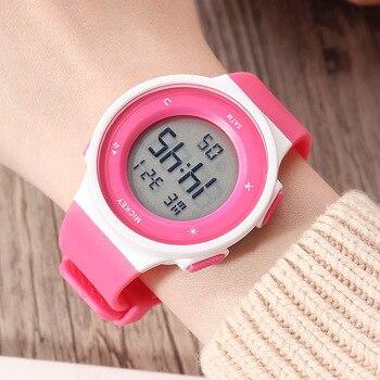 мальчики спортивные часы | Disney бренд Микки Маус Детские Девочки наручные часы для мальчиков Цифровые многофункциональные резиновые спортивные детские часы водонепр...