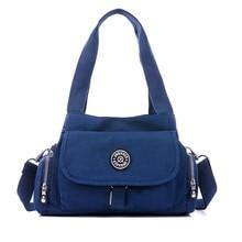 Fashion Shoulder Bags Casual Purse Handbag Travel Bag Messenger Cross Body Nylon Bag, Dark Blue