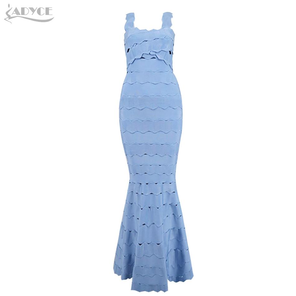 Adyce 2018 New Arrival Sexy Long Bandage Dress Vestidos Night Out Spaghetti Strap Celebrity Party Dresses Women Maxi Dress