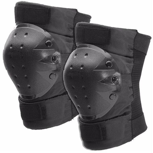 Nylon EVA Black Professional Knee Pads Protection Sewn Cap For Outdoor Sports Skating Skateboard Durable