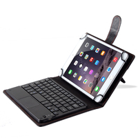 Universal 7 10 inch Removable Wireless Bluetooth Keyboard Leather Case Cover Stand IOS Android Windows Tablet PC with Touchpad