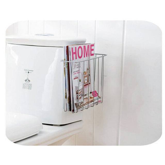 Toilet Magazine Rack Shelf Bathroom Hanging Books Holders Book Storage