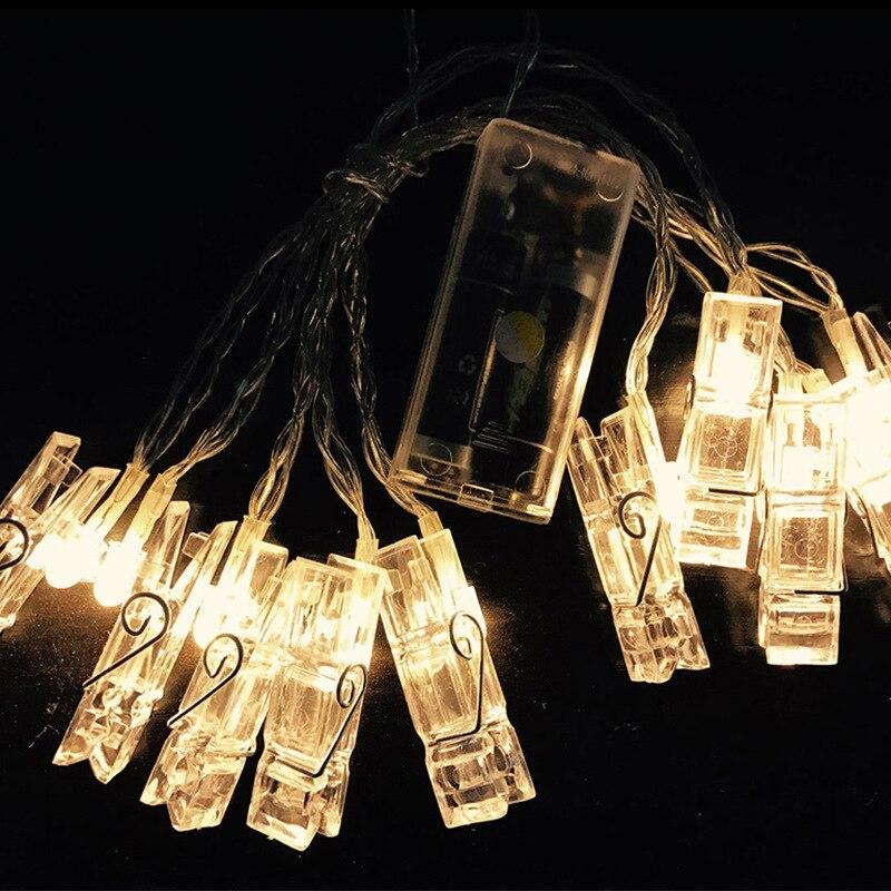 Foto Decoración de pared Luces DIY Tarjeta Estante Luces Romance - Iluminación de vacaciones