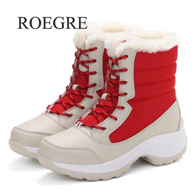 Women boots non-slip waterproof winter ankle snow boots women platform winter shoes with thick fur botas mujer 1