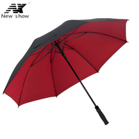 NX Inside And Outside Double Winded Golf Long Handle Umbrella Male Large 135cm Double Business Umbrella