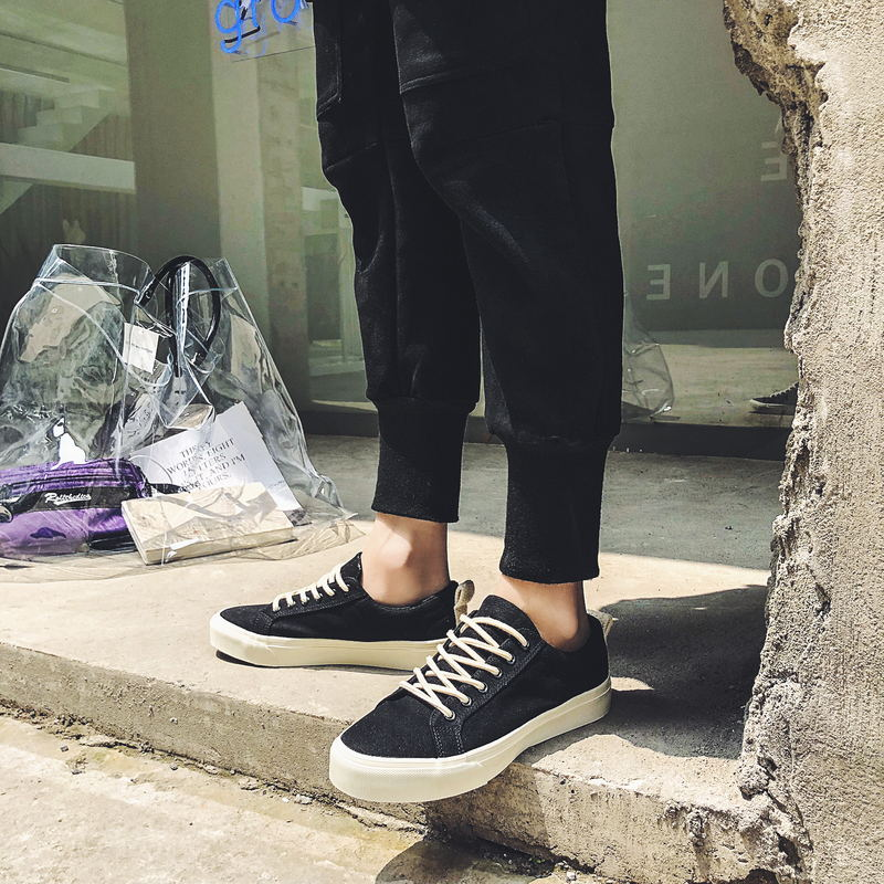 MIUBU New 2019 Hot High Quality Fashion HIgh Men Flats Casual Canvas Shoes Men Shoes Size 39 44 in Men 39 s Casual Shoes from Shoes