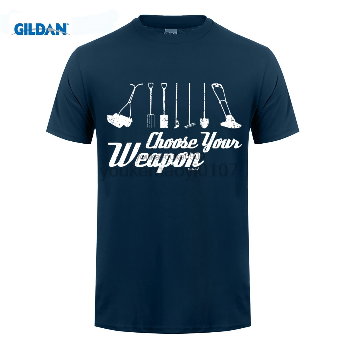 GILDAN Choose Your Weapon Gardner T-SHIRT Garden Tools Lawn Mower Funny Birthday Gift Summer Short Sleeves T Shirt Fashion