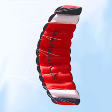 2019 Dual Line Parachute Stunt Kite with Flying Tools Parafoil Kite Brinquedos for Kids Adultes Outdoor Beach Fun Sports Kite(China)