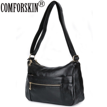 COMFORSKIN Brand Luxury Handbags Women Bags Designer Bag New Arrivals Cowhide Leather Travelling 2018 Bolsas Feminina
