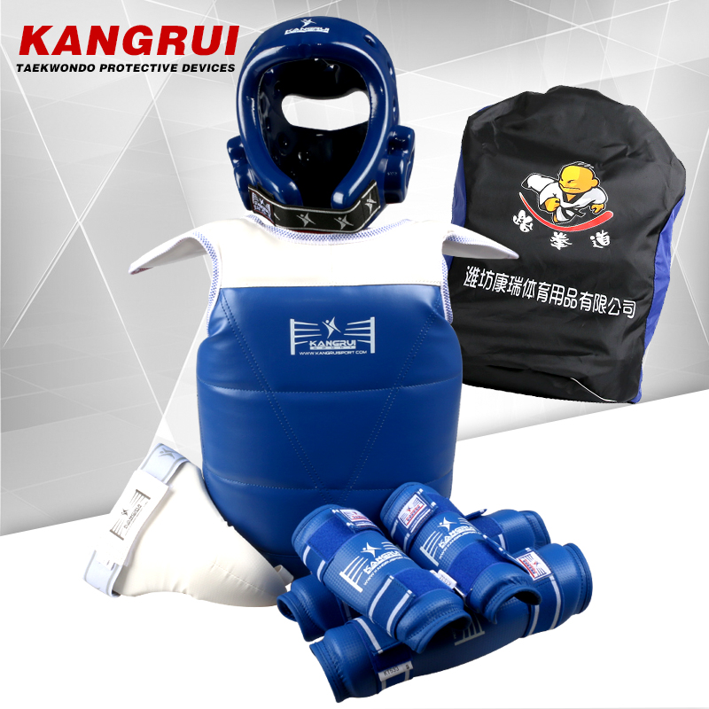 Cheap full set adult child men women taekwondo protection forarm Helmet breast pad chest protector supporter six pcs free bag