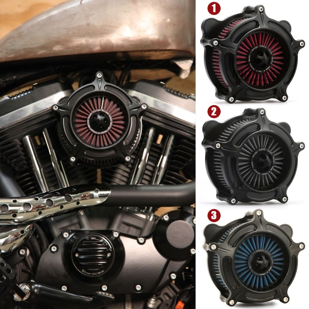 Black Turbine Spike Air Cleaner For Harley Sportster 1200 Turbine Spike Air Intakes Air Inflow Filter Iron 883 Xl1200 2007-2018