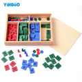 Montessori Educational Wooden Toy  Stamp Game Math for Early Childhood Preschool Training Kids Toys Brinquedos Juguetes