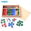 Sello De Madera De Juguete Juego de Matemáticas Montessori Educativos para La Primera Infancia Formación Preescolar Juguetes Para Niños Brinquedos juguetes
