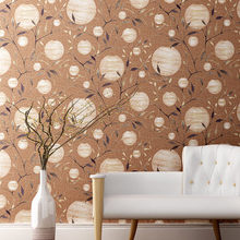 цена на New Chinese wallpaper vintage bedroom non-woven wallpaper classical living room background wall paper fire tree silver flower
