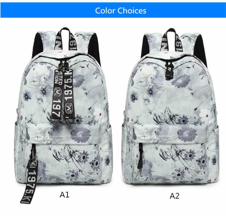 Детская милая зеленая печать листьев рюкзак для девочек школьные сумки Сумка для книг детский подарок подростковый студенческий школьный рюкзак дорожная сумка