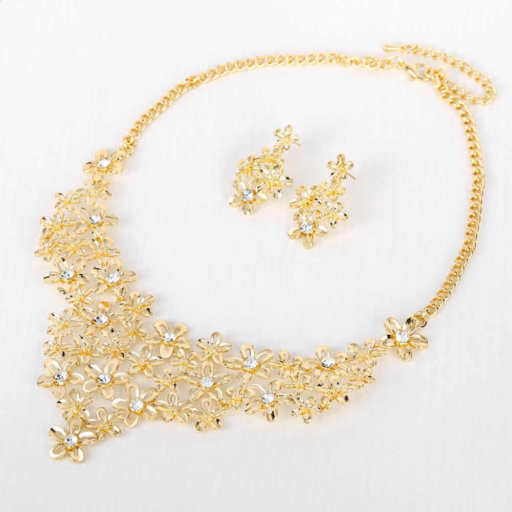 2017 الأصلي الأزياء كريستال مجوهرات الزفاف مجموعات الايطالية مجموعة للنساء مجوهرات للبنات مجموعات