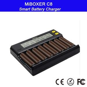 Image 4 - MiBOXER C8 Intelligent Battery Charger 8 Slots smart with LCD Display for Li ion LiFePO4 Ni MH Ni Cd AA 21700 20700 26650 18650