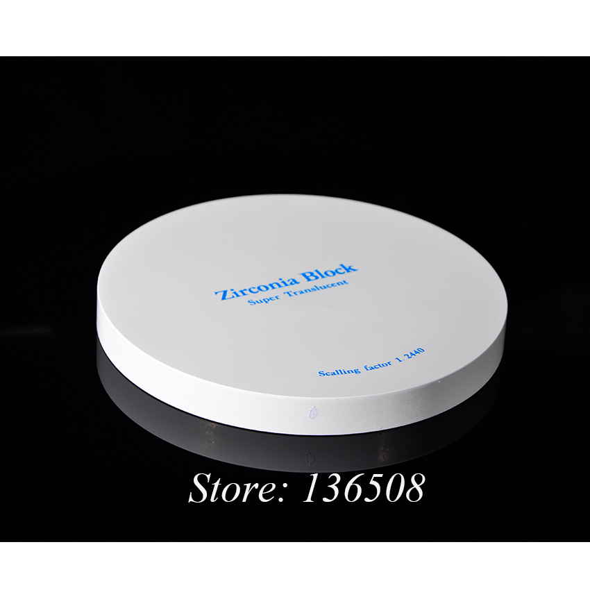 Zirconia Disk OD98x22mm ST for Full Contour Denture Roland Suitable Open CADCAM Milling Zirconium Block Dental Lab Used