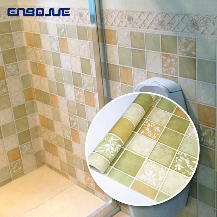 0,6x3 м самоклеющиеся ПВХ, стены Бумага Ванная комната туалет Плитки Водонепроницаемый стены Стикеры s Кухня Oilproof плед обновления стикеры