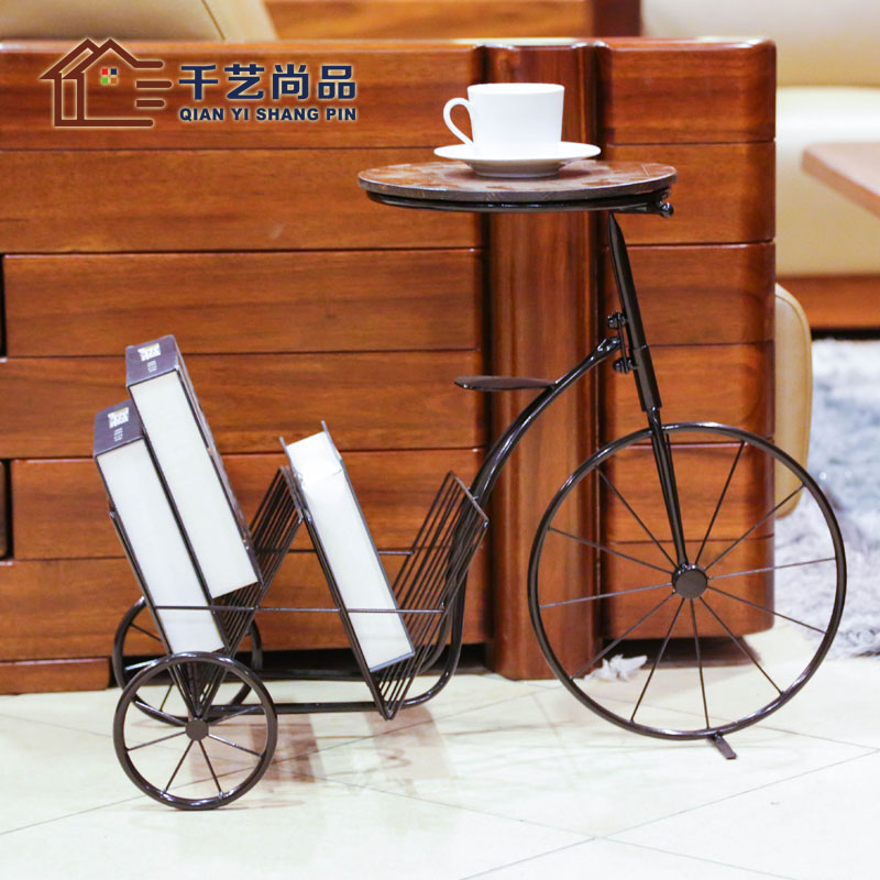 Thousands of European goods unigarden iron table table magazine newspaper rack bicycle creative direct phone a few special offer
