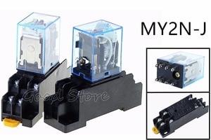 MY2NJ MY2P HH52P AC 12 v 24 v 110 v 220 v bobina DPDT micro mini relé de propósito geral com base do soquete