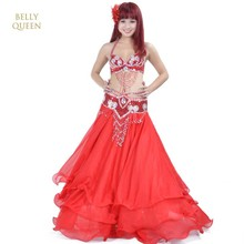 Belly Dancing Oriental Dance Costumes Performance 3pcs Bead Set (Bra, Belt, Skirt) Belly Dance Costume Set Bellydance Costumes