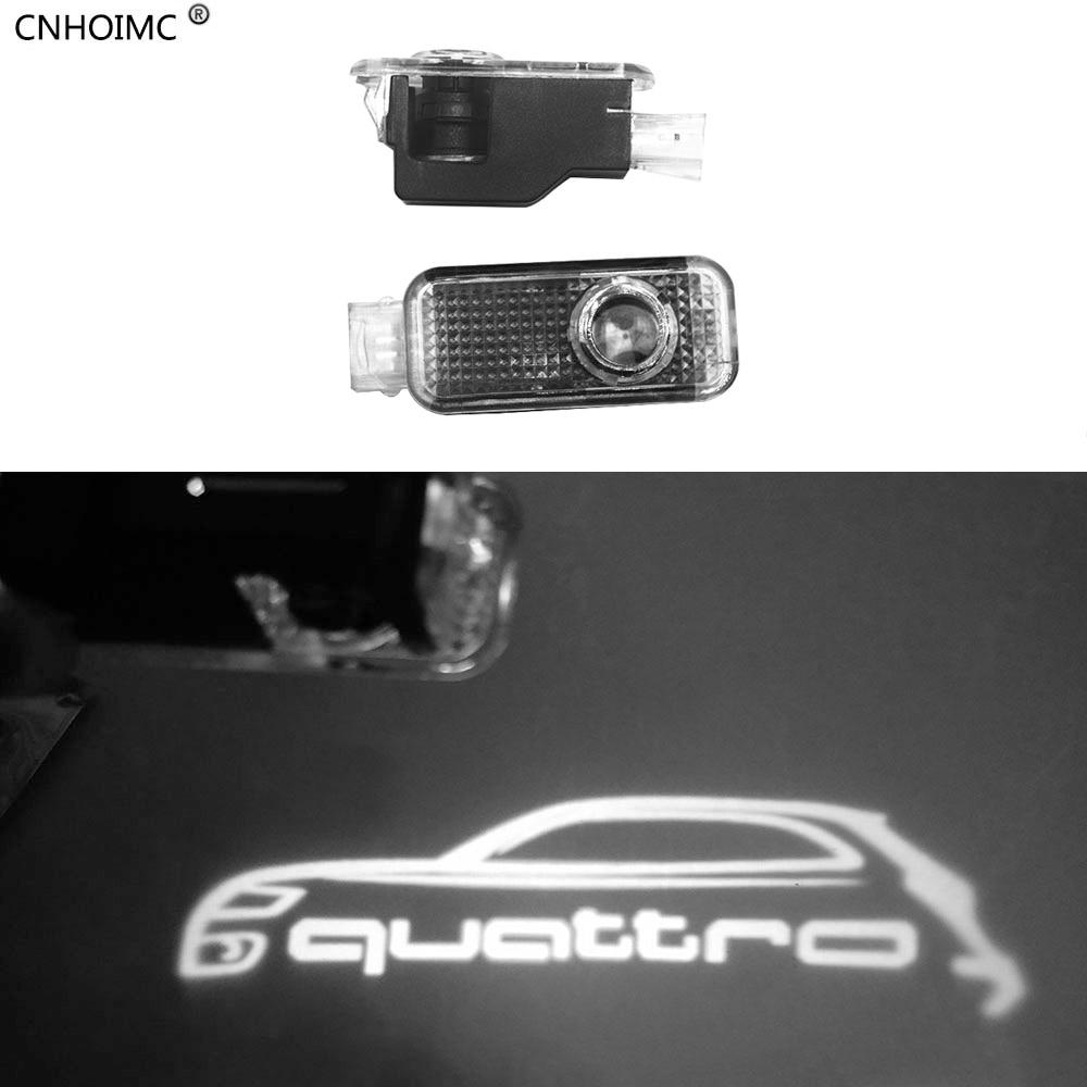 2x свет двери автомобиля Призрак Тень проектор логотип для <font><b>Audi</b></font> A3 A4 B6 B8 B7 A6 C6 C5 A7 a8 A5 <font><b>Q3</b></font> Q7 Q5 80 TT S линию RS S3 Quattro