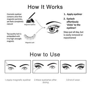 Image 5 - Magnetic Eyelash Magnetic Liquid Eyeliner& Magnetic False Eyelashes & Tweezer Set Waterproof Long Lasting Eyelash Extension