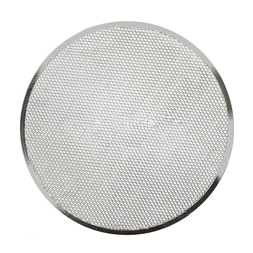 6/8/9/10/12/14Inch Aluminium Flat Mesh Pizza Screen Oven Baking Tray Net Bakeware Cookware kitchen baking tool