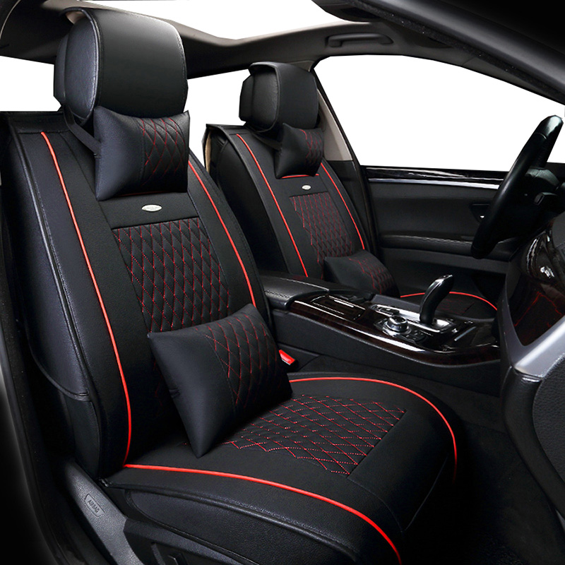 New PU Leather Auto Universal (front+back ) Car Seat Covers for byd f3 g3 g6 l3 s6 mg 6 mg3 buick excelle xt lacrosse regal pu truck interior accessories mat auto supplies office chair 5 colors for byd f0 f3 f6 l3 g3 g6 suree s6 6b s7 iev300 e5