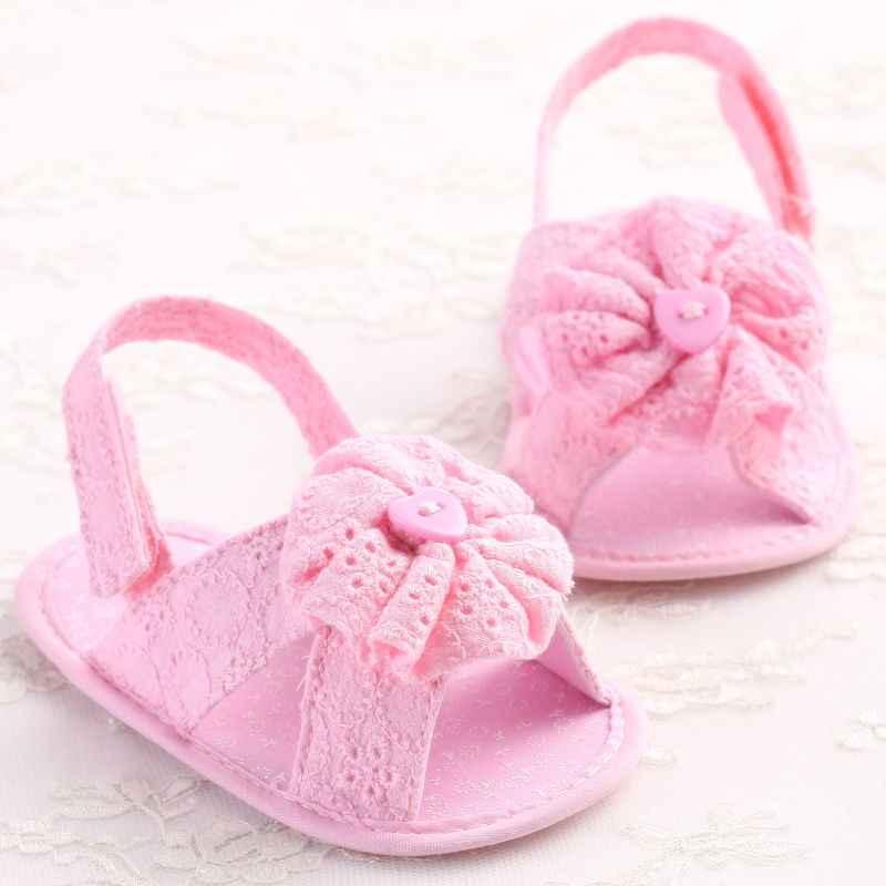 Botón Decoración elegante bebé niños niñas bebé Casual Crochet zapatos florales niños planos zapatos de fiesta
