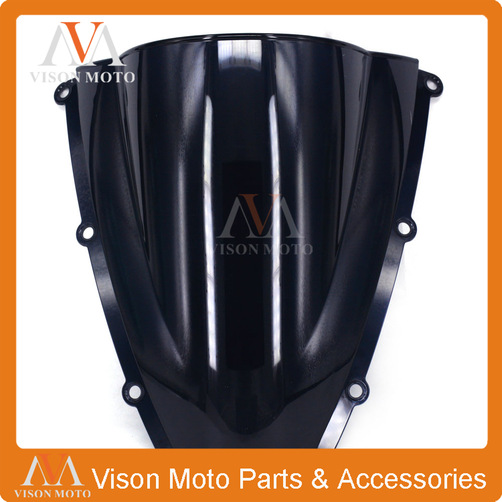 Motorcycle Winshield Windscreen For HONDA CBR600RR F5 CBR 600 CBR600  RR 2003 2004 03 04 BLACK motorcycle winshield windscreen for honda cbr600rr f5 cbr 600 cbr600 rr f5 2007 2008 2009 2010 2011 2012