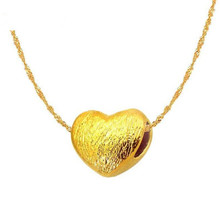 999 Pure Gold Jewelry Tiny Heart Necklace Pendant Women 100% Real 999 Pure Gold Pendant Bijoux Bridesmaid Gift