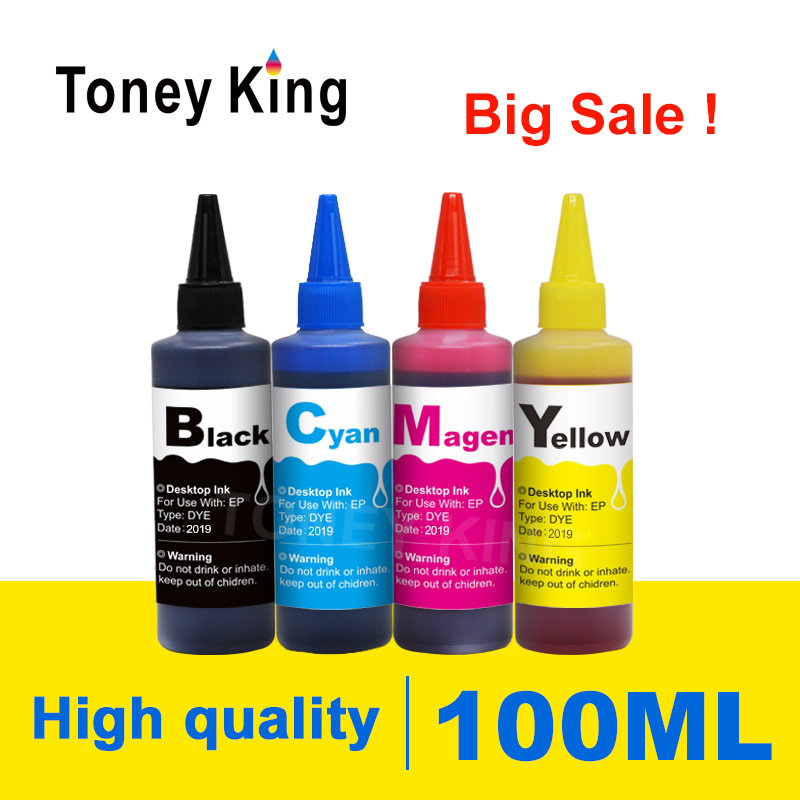 Toney King 100ml Printer Dye <font><b>Refill</b></font> Ink <font><b>Kit</b></font> For <font><b>HP</b></font> 932 <font><b>933</b></font> XL Officejet 6100 6600 6700 7110 7610 7612 7510 7512 Ink Cartridge image