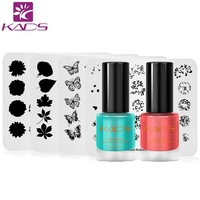 KADS New Arrival 4pcs nail stamp plate+2pcs nail stamping polish set stamping nail art polish for nail art set