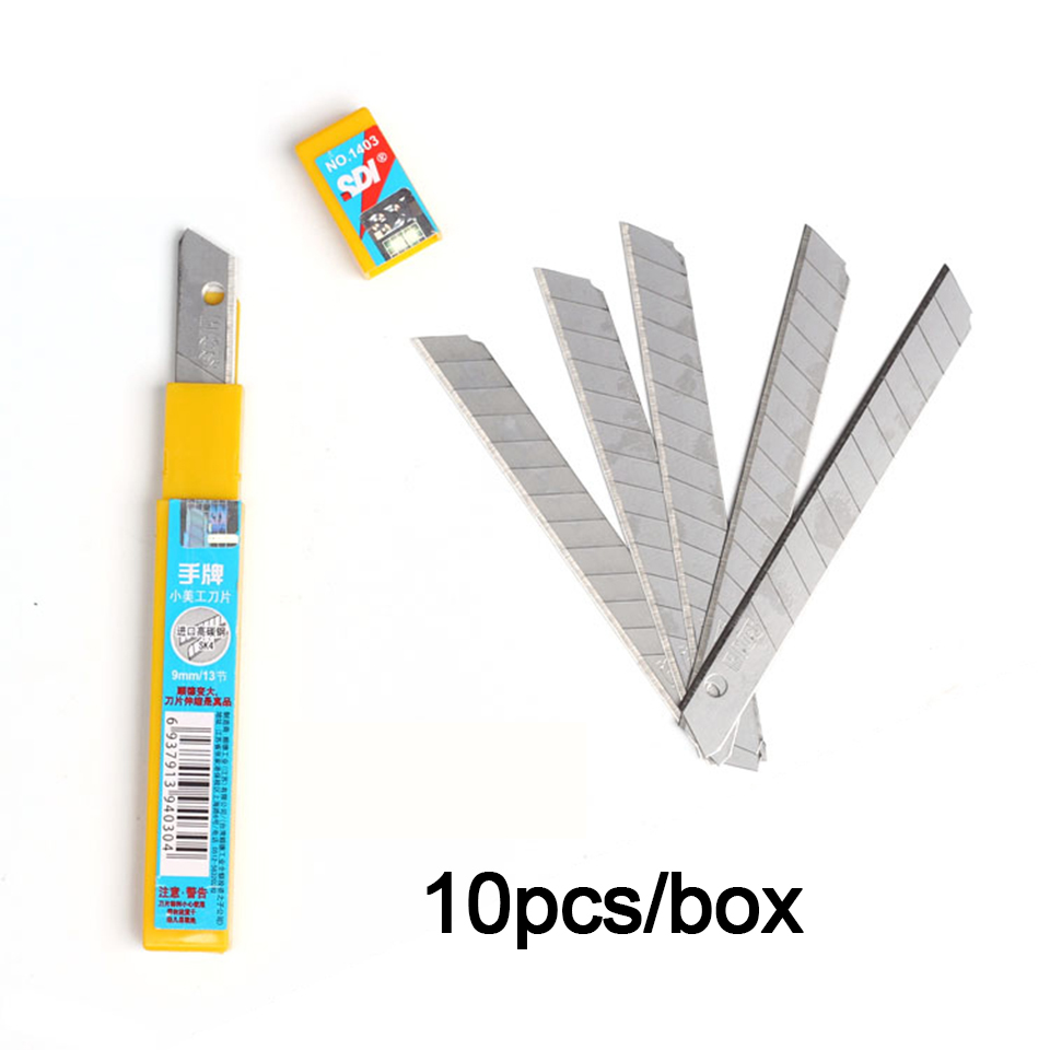60 Degree High Carbon Steel Knife Replacement Blade 9mm 50 Blades/Pack SDI 1403-in Car Stickers from Automobiles & Motorcycles